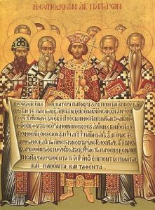 Icon of the Council of Nicaea, the First Ecumenical Council